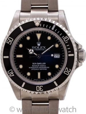 Rolex Sea-Dweller ref 16600 Tritium Luminous circa 1991