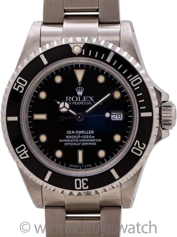 Rolex Sea-Dweller ref 16600 Tritium Luminous circa 1991