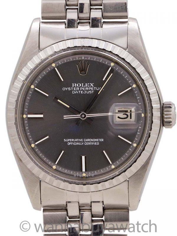 Rolex Datejust ref# 1603 Charcoal Grey Sigma Dial SS circa 1973