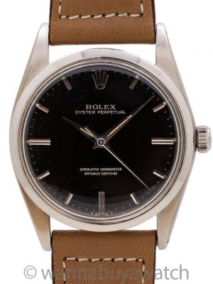 Rolex Oyster Perpetual ref 1018 Black Gilt Dial circa 1962