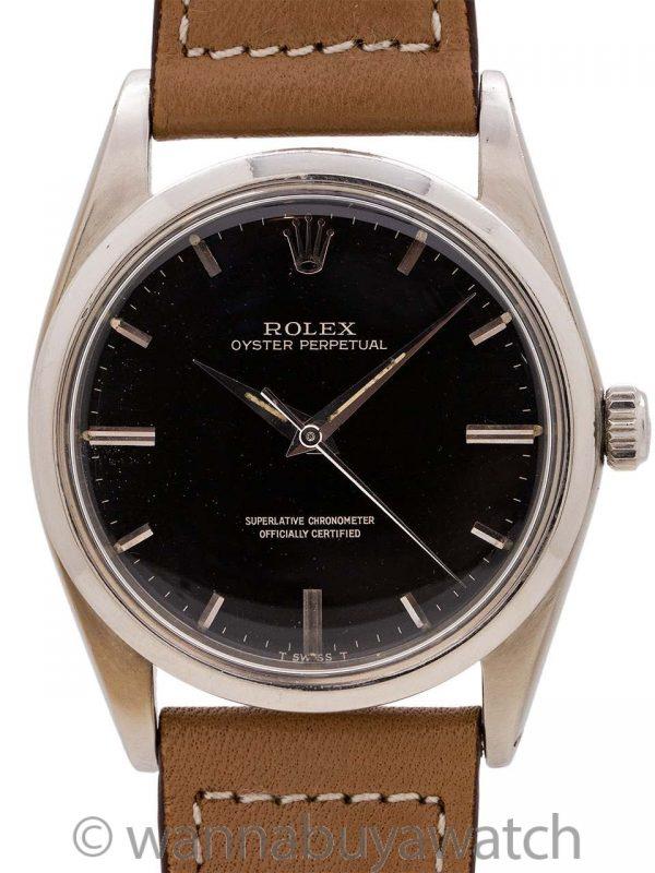 Rolex Oyster Perpetual ref 1018 Black Gilt Dial circa 1962