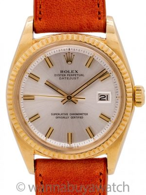 "Rolex Datejust ref 1601 ""Fat Boy"" 18K YG circa 1970"