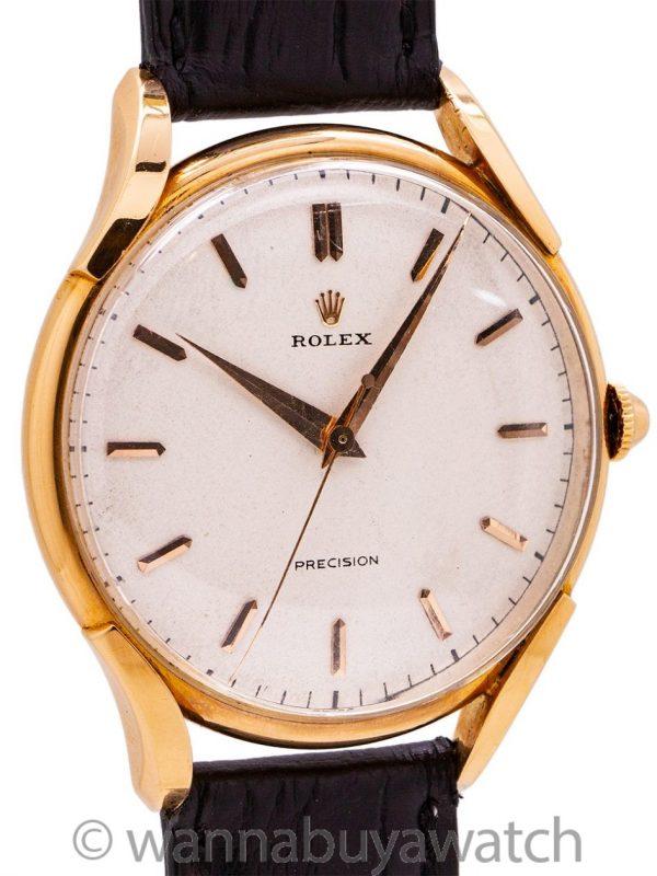 Rolex Precision Oversize ref. 4891 18K PG circa 1952