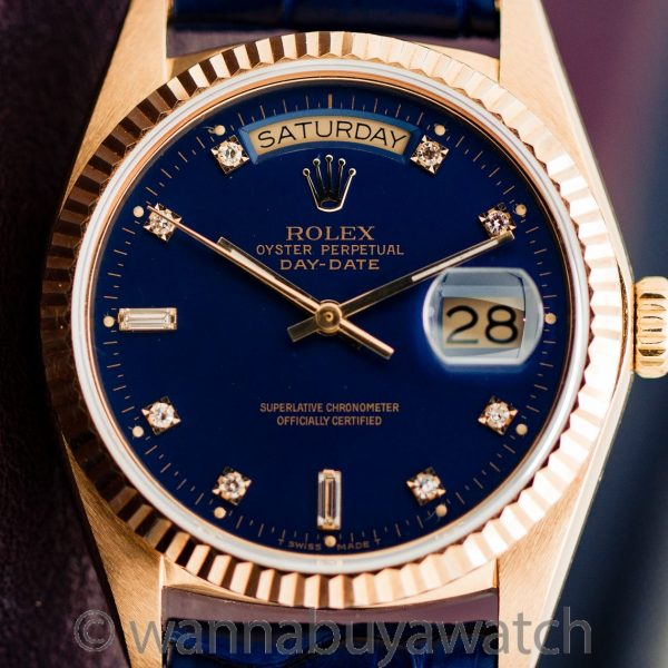 Rolex ref 18038 Blue Diamond Dial circa 1978