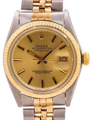 "Rolex Datejust ref 1601 SS/14K YG ''Fat Boy"" circa 1969"