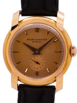 Mint Baume & Mercier 18K PG Dress Model circa 1950's