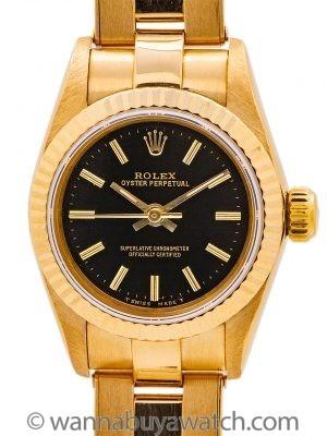 Lady Rolex 18K YG Oyster Perpetual ref 67198 circa 1995