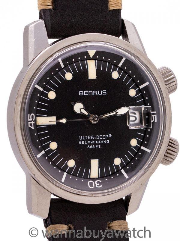 Benrus SS Super Compressor Diver's circa 1960