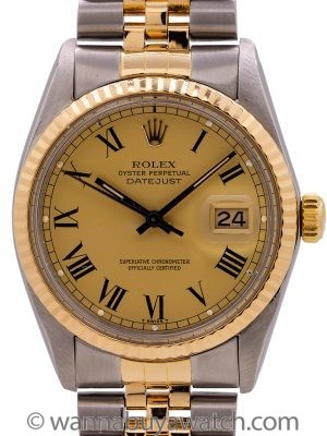 "Rolex Datejust ref# 16013 SS/18K YG circa 1982 ""Roger Moore"" Buckley Dial"