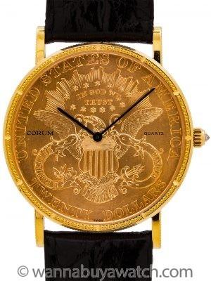 Corum $20 U.S. Gold Coin Watch circa 1980's
