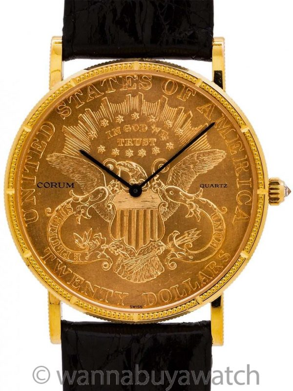 Corum $20 U.S. Gold Coin Watch circa 1980's