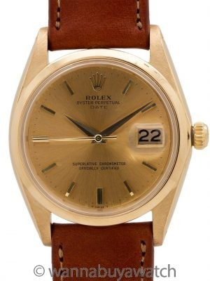 Rolex Oyster Perpetual Date ref 1500 18K YG circa 1958