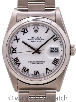 Rolex Datejust ref 16200 Stainless Steel circa 2001