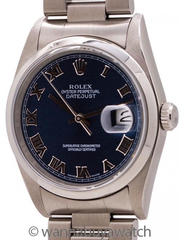 Rolex Datejust ref 16200 Blue Roman circa 2003