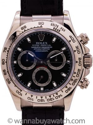 Rolex Daytona 18K WG ref 116519 circa 2006 Box and Papers