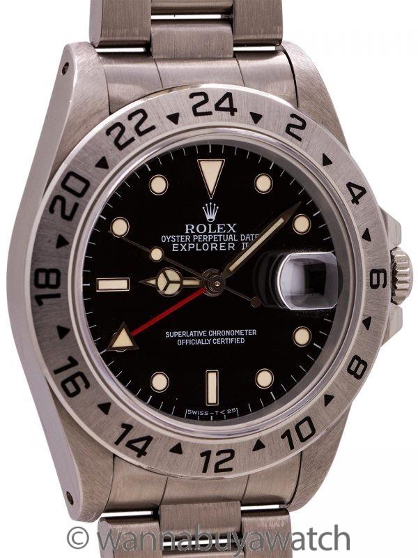 Rolex Explorer II ref 16570 Black Tritium Dial circa 1995
