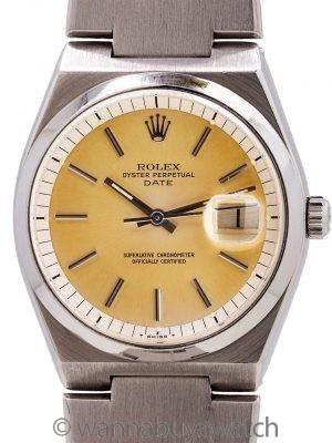 Rolex Oyster Perpetual Date ref 1530 SS Oyster Quartz Case circa 1977
