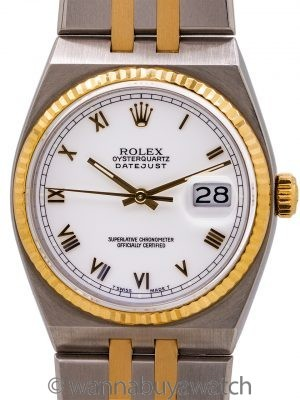 Rolex Oyster Quartz Datejust ref 17013 SS & 18K circa 1990