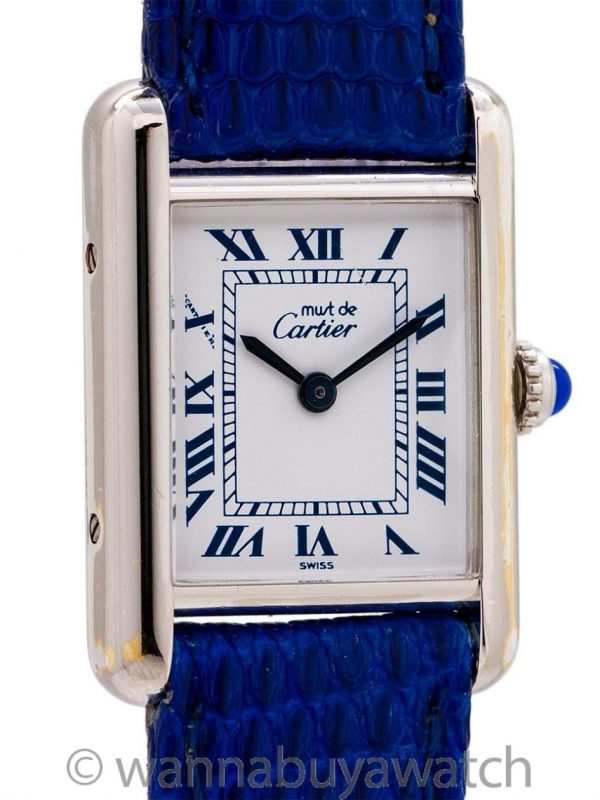Cartier Lady's Silver Tank Louis Must de Cartier circa 1990s