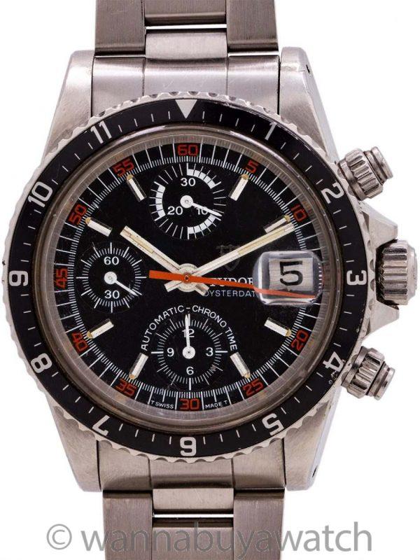 "Tudor Monte Carlo Big Block Chronograph ref 9421/0  ""Mandarin"" circa 1988"