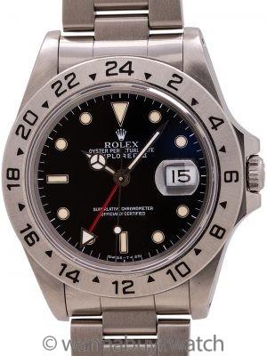 Rolex Explorer II ref 16570 Black Tritium Dial circa 1990
