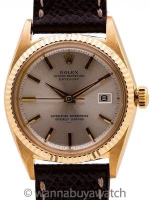 Rolex Datejust ref 1601 18K YG Underline Dial circa 1964