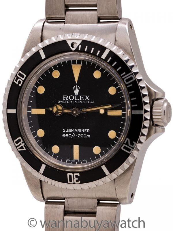 Rolex Submariner ref# 5513 Maxi Dial circa 1981
