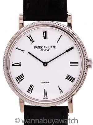 Patek Philippe ref 5120 Calatrava Tiffany Signed 18K WG circa 2010's