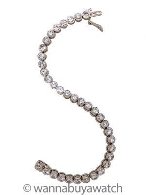 Diamond Line Bracelet 18K WG 8.10cts