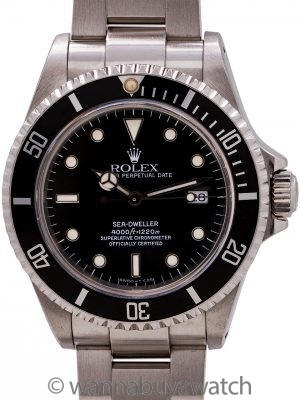 Rolex Sea-Dweller ref 16600 Tritium Luminous circa 1990