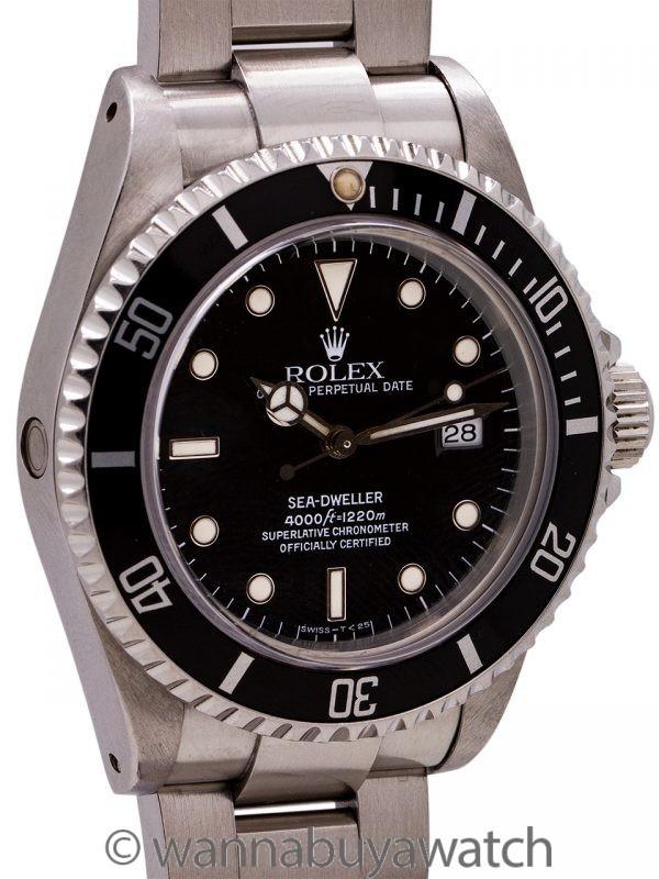 Rolex Sea-Dweller ref 16600 Tritium Luminous circa 1990