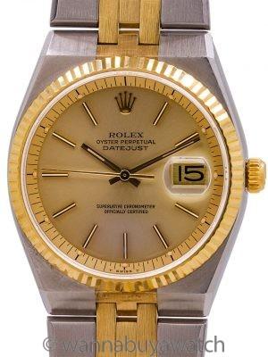 Rolex Datejust ref. 1630 SS & 18K YG Oyster Quartz Case Automatic circa 1977