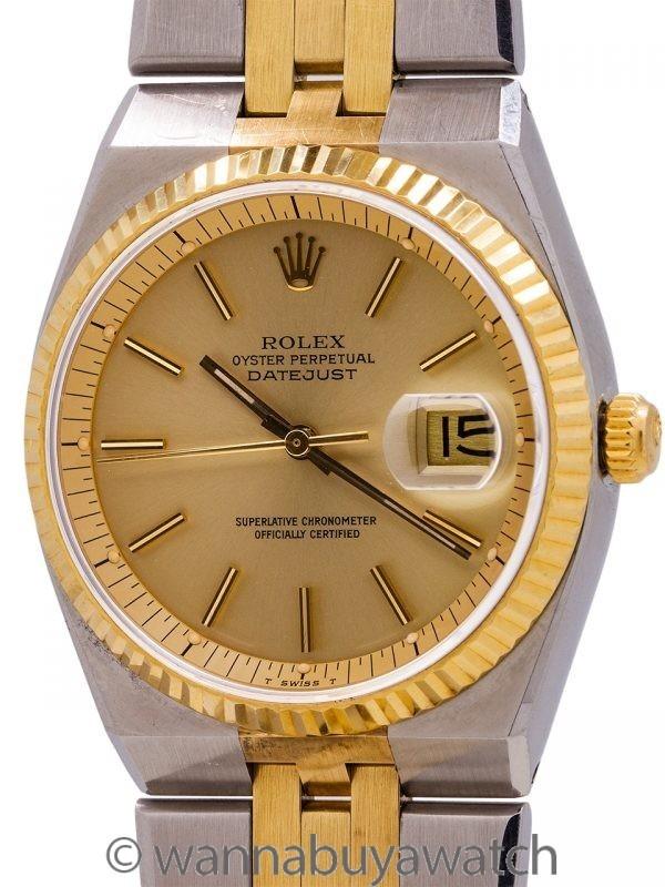 Rolex Datejust ref. 1630 SS & 18K YG  Automatic (Oyster Quartz Case) circa 1977