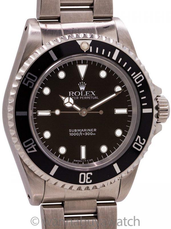 Rolex Submariner ref 14060 Tritium Stainless Steel circa 1995