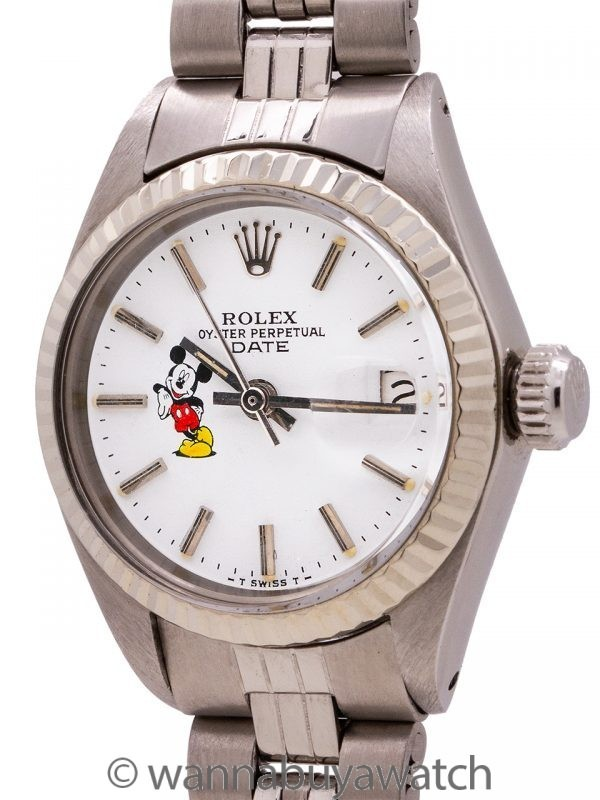 "Lady Rolex Oyster Perpetual Date ""Mickey Mouse"" ref 6917 circa 1972"
