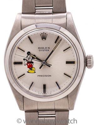 "Rolex SS Oyster Precision Ref. 6426 ""Mickey Mouse"" circa 1983"