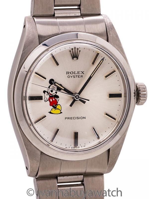 "Rolex SS Oyster Precision Ref. 6426 ""Mickey Mouse"" circa 1983"