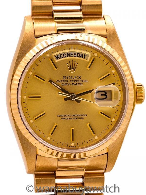 Rolex Day Date President 18K YG ref 18038 circa 1980