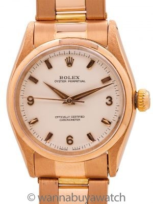 Rolex 18K PG Oyster Perpetual Midsize circa 1956