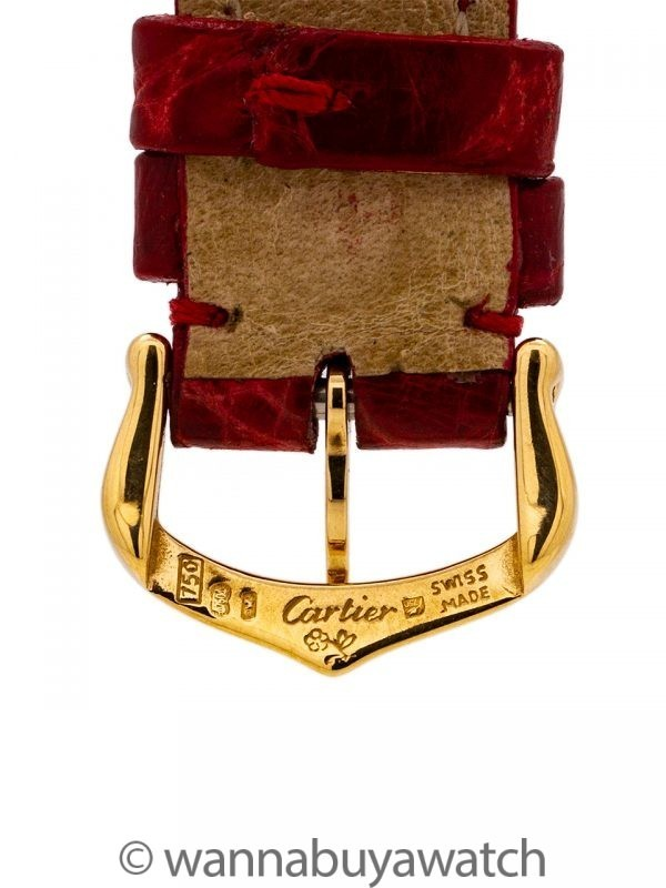 Cartier Man's Tank Louis 18K Gold circa 1990's