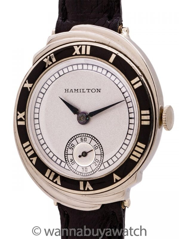 Hamilton 14K WG Spur circa 1929