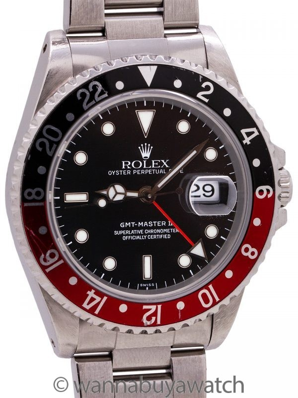 "Rolex GMT II ref 16710 ""Swiss Only"" circa 1998"