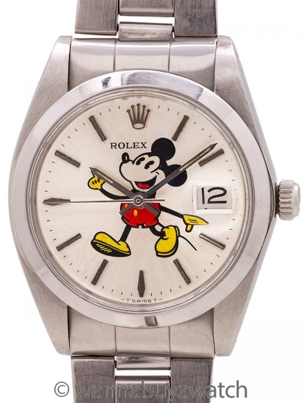 """Rolex Oyster Date Ref. 6694 """"Mickey Mouse"""" circa 1982"""