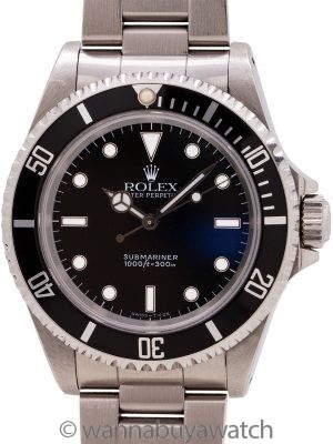 Rolex Submariner ref 14060 Tritium circa 1991 with Papers