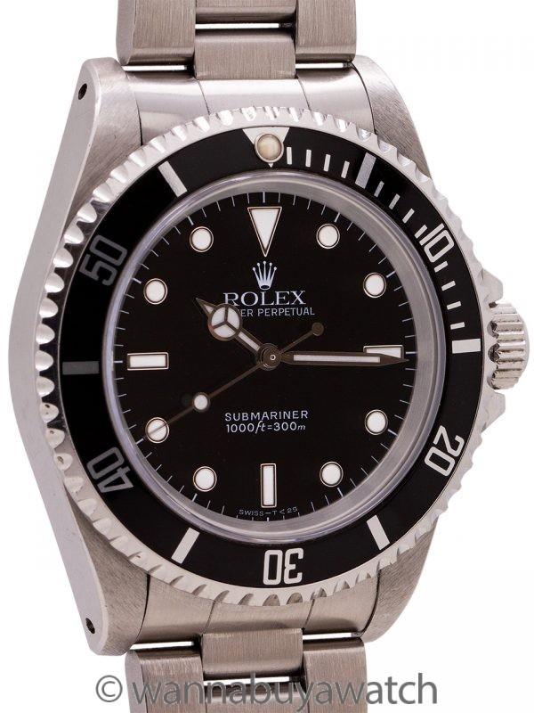 Rolex Submariner ref 14060 Tritium circa 1991 with Papers