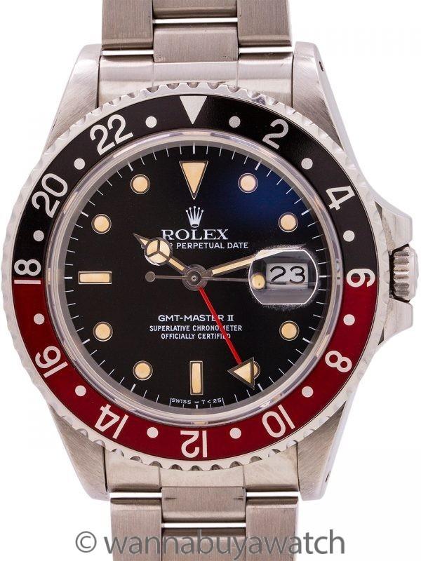 "Rolex GMT II ref 16760 ""Fat Lady"" circa 1985 ""Sophia Loren"""