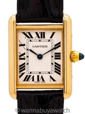 Cartier Lady's 18K Gold Tank Louis ref 2442 circa 2010