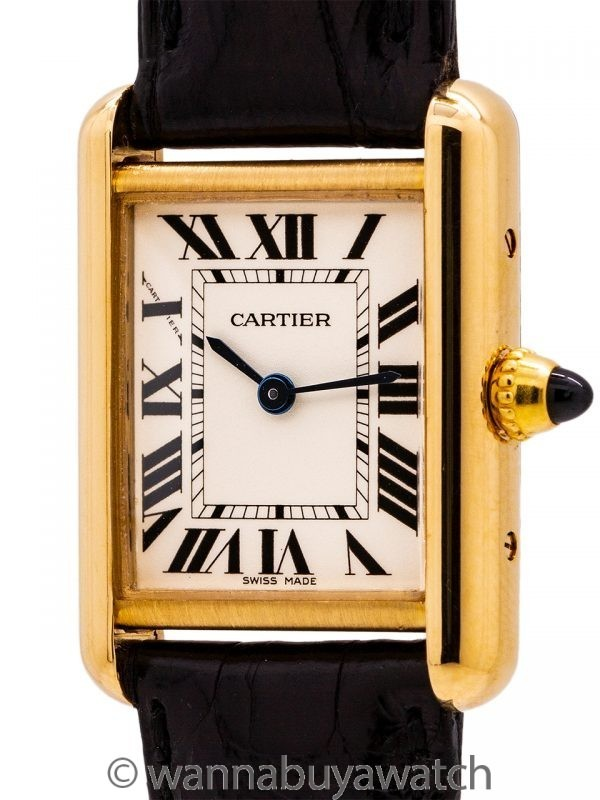 Cartier Lady's 18K Gold Tank Louis ref 2442 circa 2010