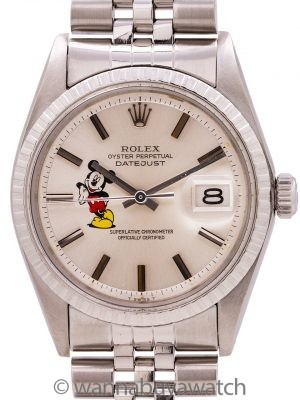 "Rolex Datejust ref# 1603 Stainless Steel ""Mickey Mouse"" circa 1973"
