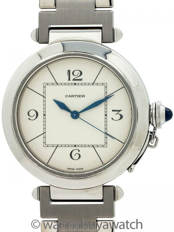 Cartier SS Pasha Large 42mm Automatic circa 2000's